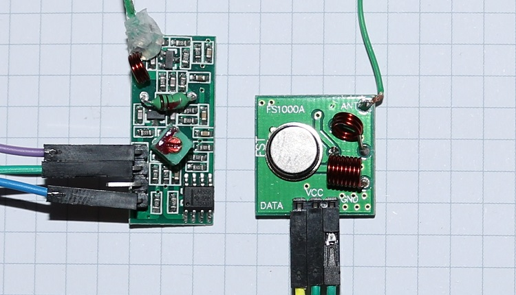 Arduino 433 Mhz FS1000A