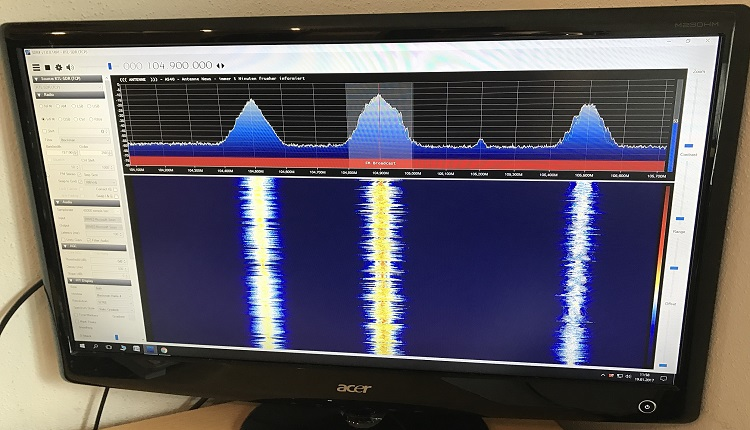 DVB-T SDR Spectrum Analyzer