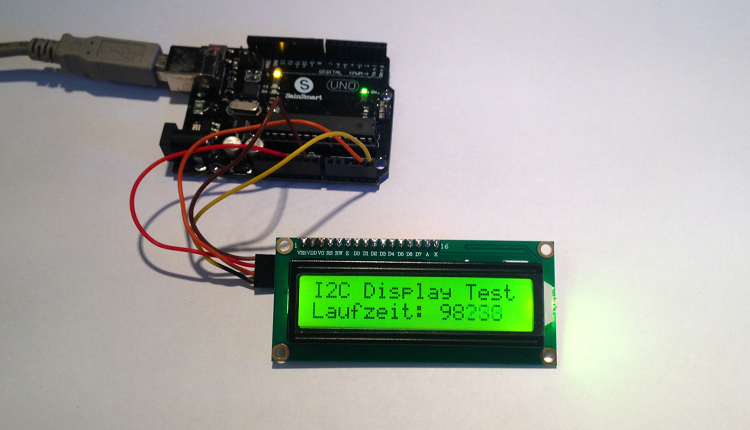 Arduino I2C LCD Display Library
