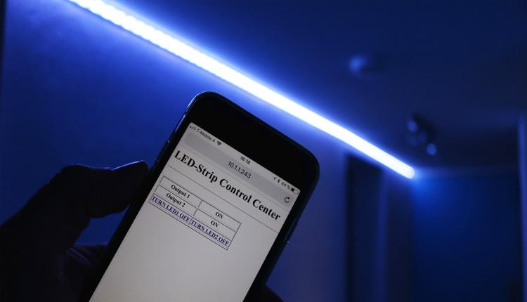 Arduino Smarthome LED Strip Control Webinterface