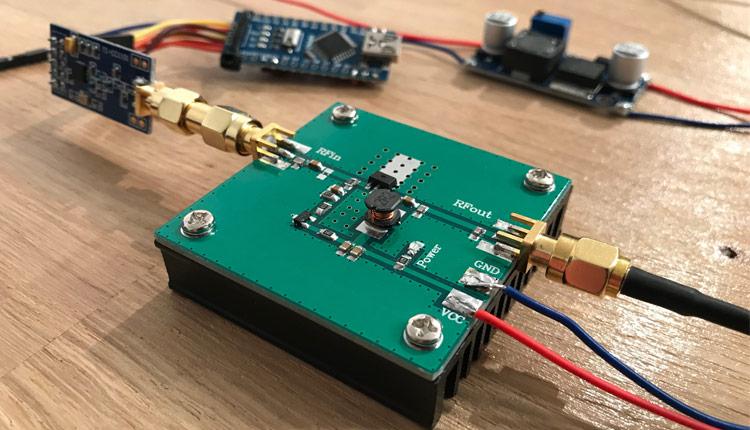 Arduino 5Watt Ultra Long Range Wireless Amplifier - Endstufe CC1101