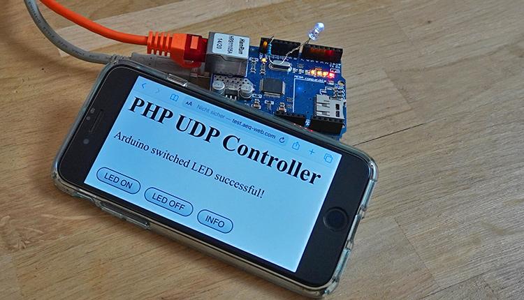 Arduino steuern mit UDP und PHP