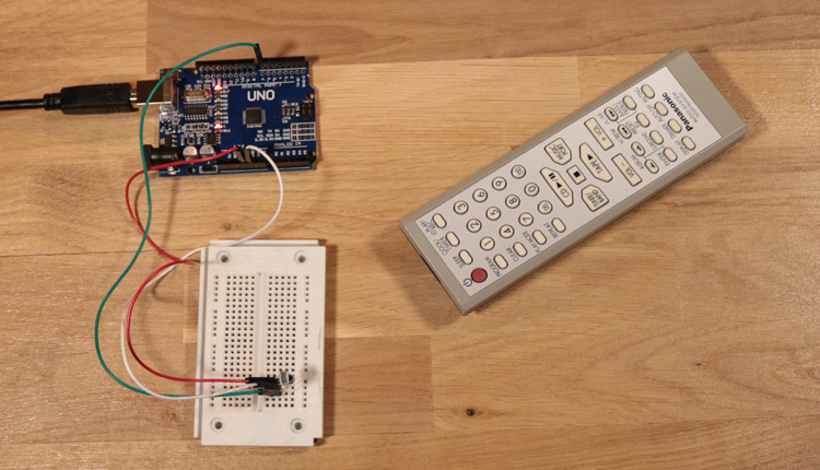 Arduino - read and decode infrared signals from a remote controller