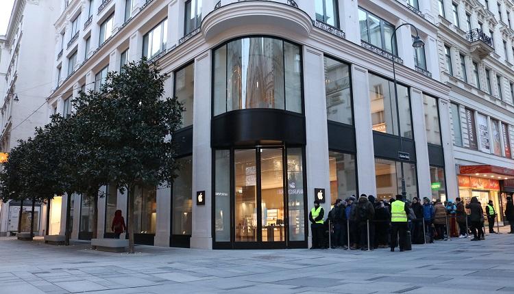 Apple Store Eröffnung in Wien - Kärntnerstraße