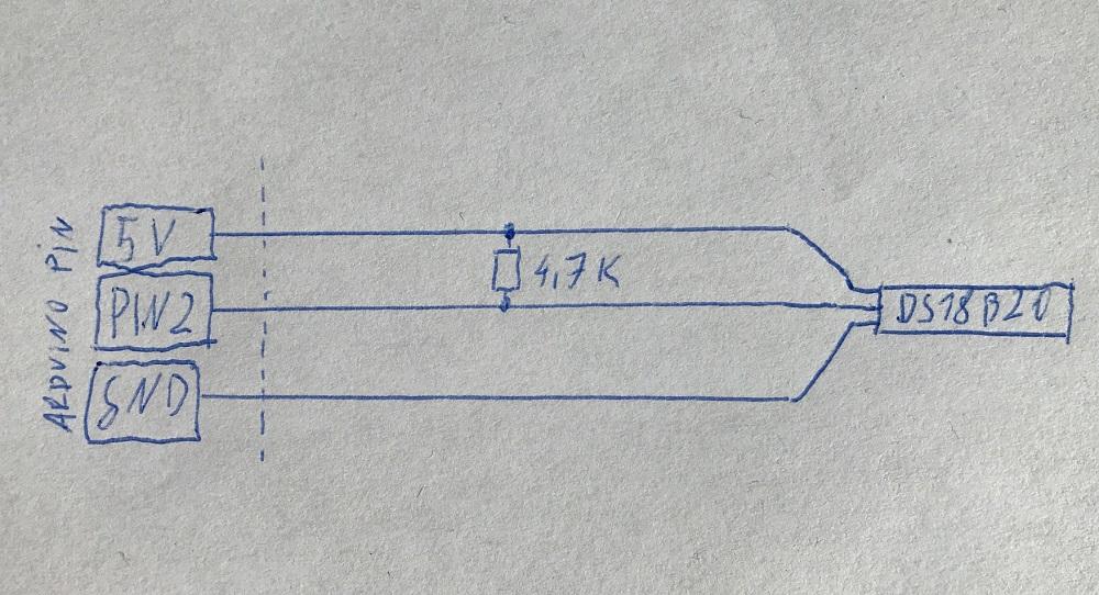 DS18B20 Arduino Verdrahtung