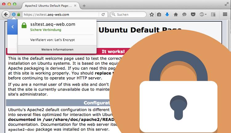 Kostenloses SSL - Ubuntu Server - AEQ-WEB.COM