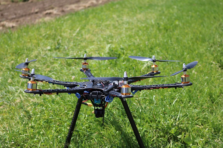 Hexacopter Eigenbau mit 2220 mAh 3s Lipo GPS und CC3D - Selbstbau