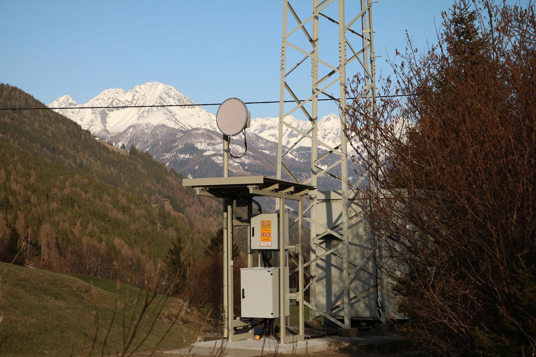 Analog-TV Sender Fragant im Mölltal - Richtfunk