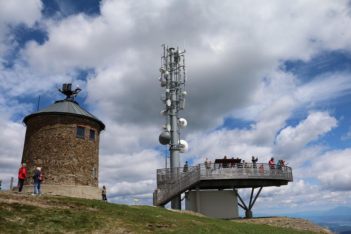 DVB-T Sender Gerlitzen über Villach - Antennen