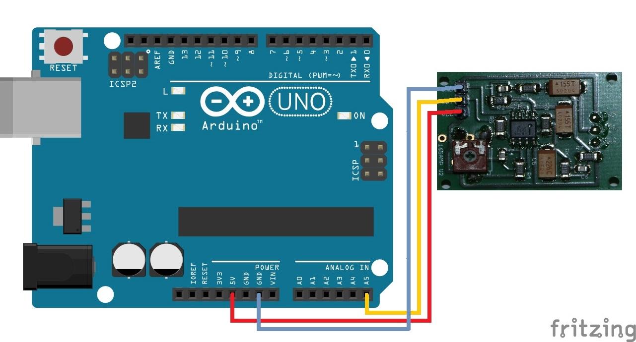 Arduino Radar Wiring - Schaltplan