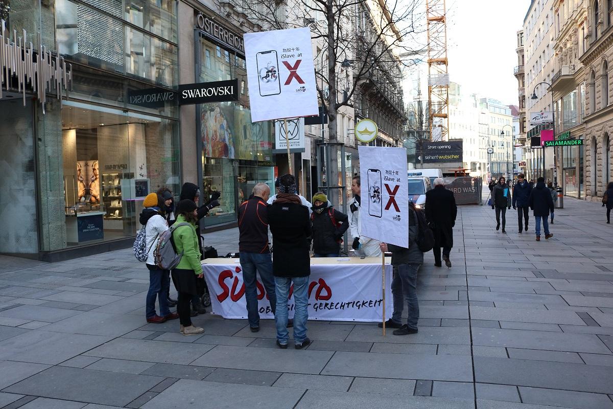 Apple Store Eröffnung in Wien - Protest