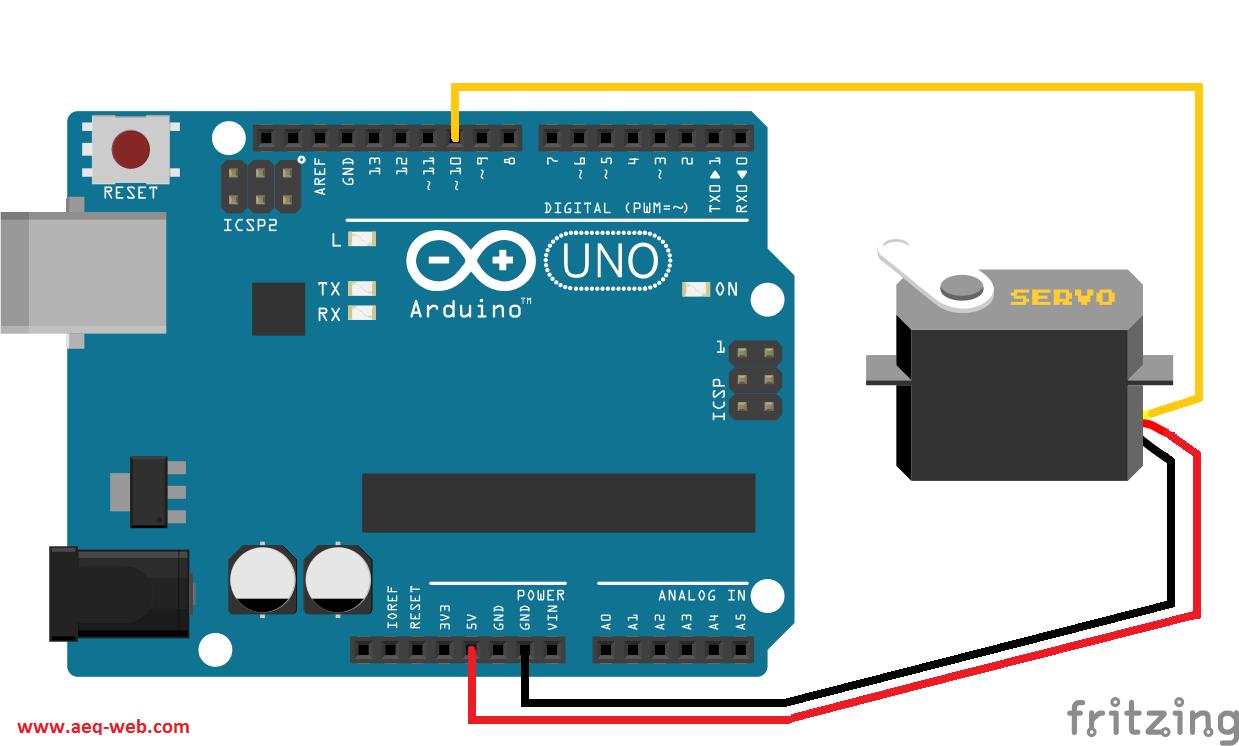 Arduino SG90 Servo Wiring - Schaltplan