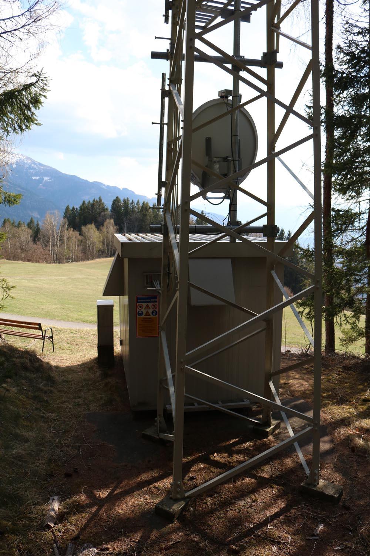 Sender Gmünd 1 in Kärnten - Schlossbichel - Rückseite
