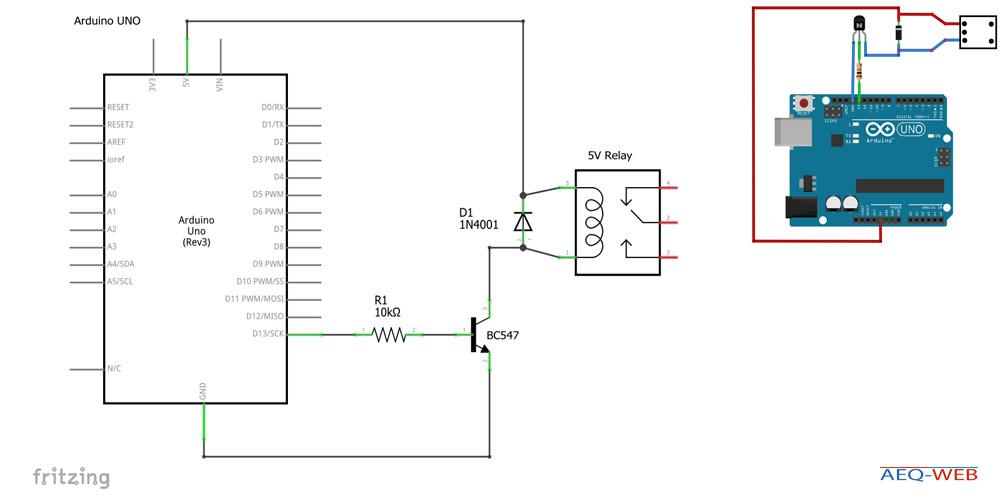 Arduino 5V Relay BC547