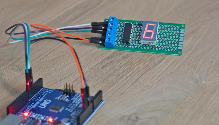 Arduino 74HC595 Siebensegment Anzeige