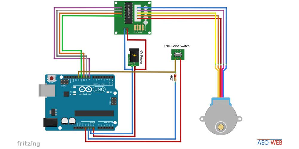 Arduino ULN2003 Camera Slider Sesnor Wiring
