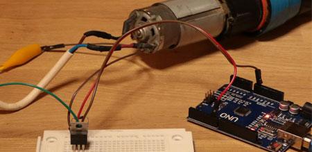 Drehzahl von Motoren mit dem Arduino über einen MOSFET regeln