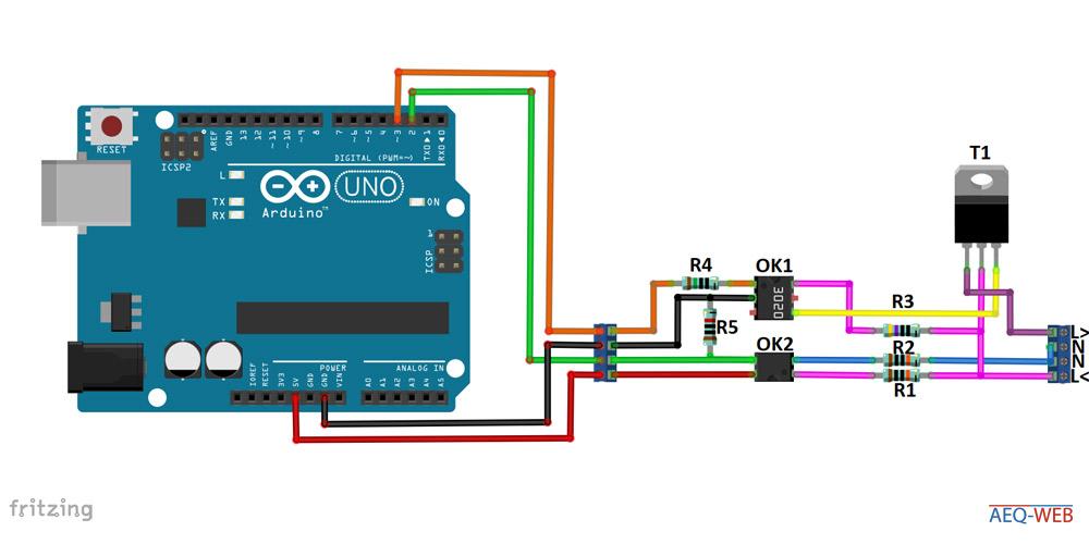 Arduino Dimmer Wiring