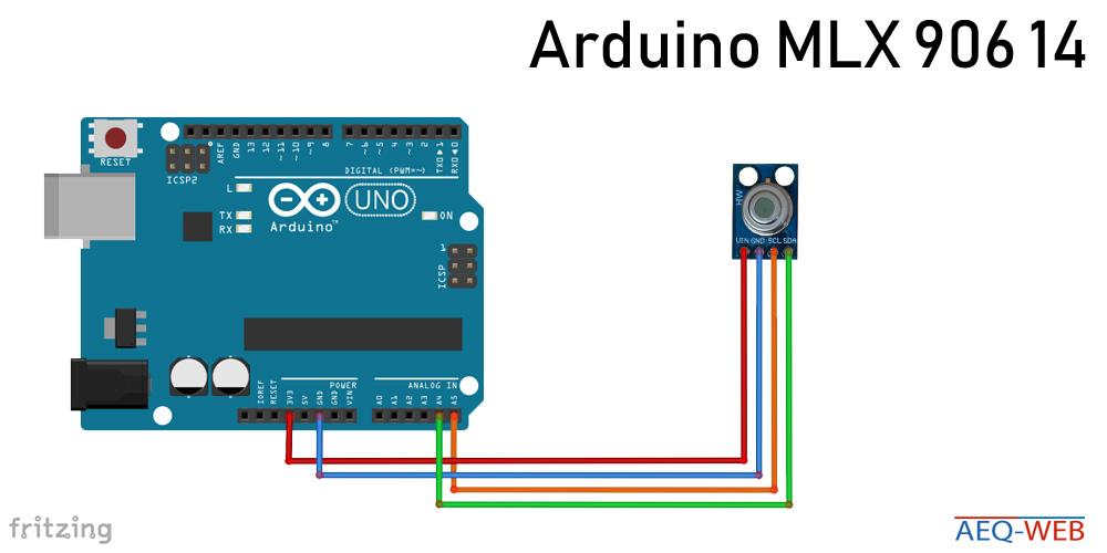 Arduino GY906 Temperatur Sensor I2C Wiring