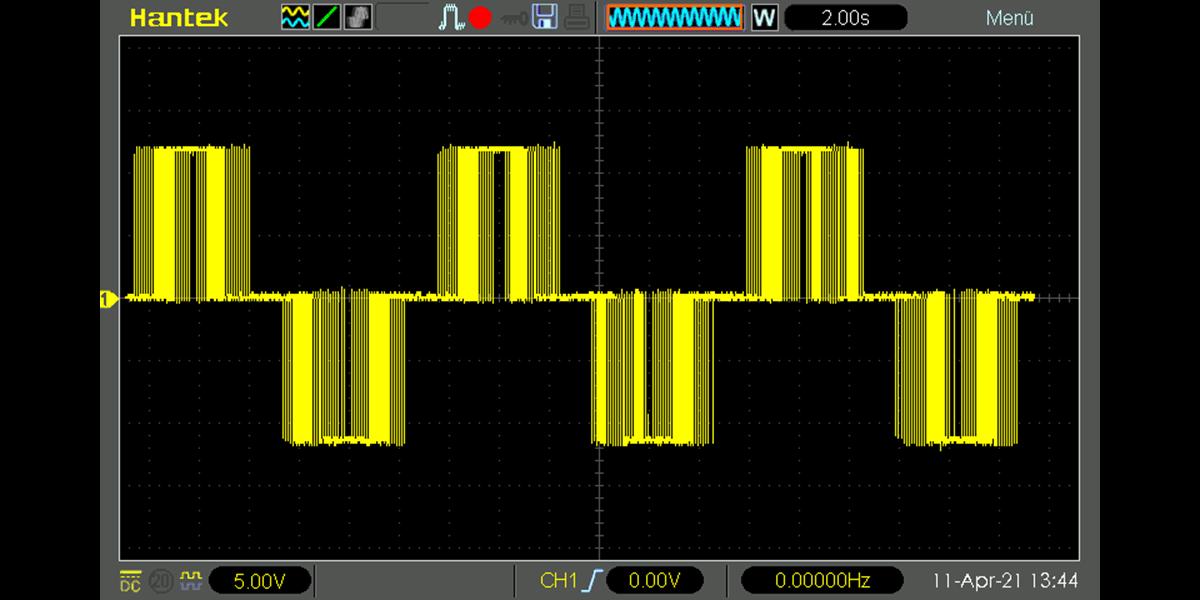 Arduino H-Bridge with PWM Output Oscilloscope