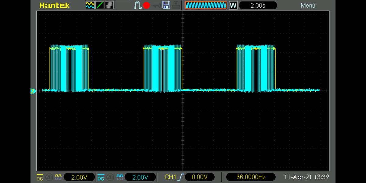 Arduino H-Bridge with PWM Oscilloscope