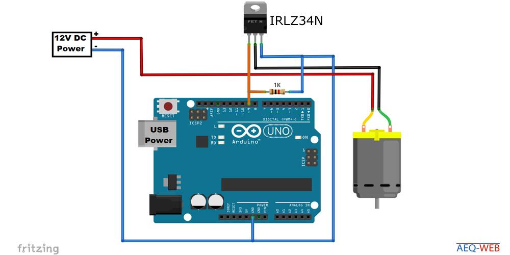 Arduino PWM MOSFET ansteuern