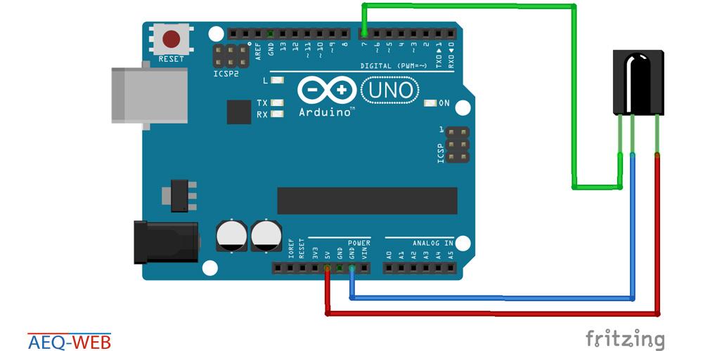 VS-1838B Infrared Receiver Arduino Wiring