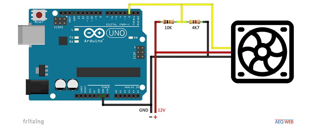 Arduino Tachosignal auswerten und Lüfter Drehzahl überwachen