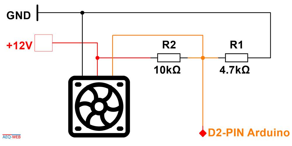 Arduino Lüfter Drehzahl Signal auswerten