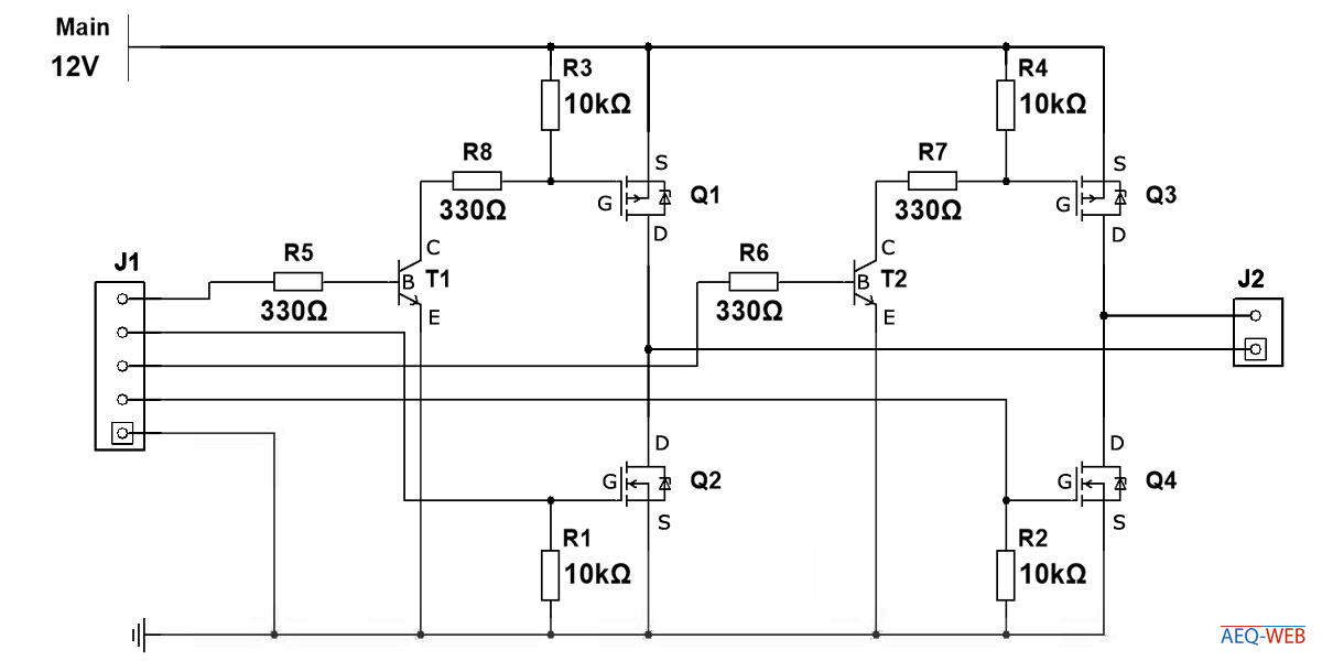 Arduino H-Bridge Motor Controller
