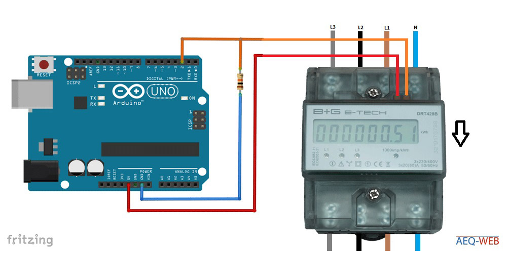 Arduino Pulldown S0 Interface Smartmeter