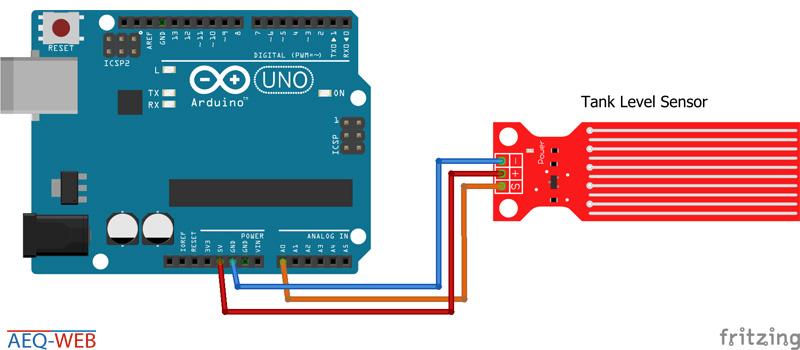 Arduino Water Tank Level Sensor Wiring