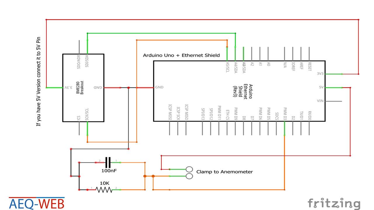 Arduino Wetterstation Wiring - Schaltplan