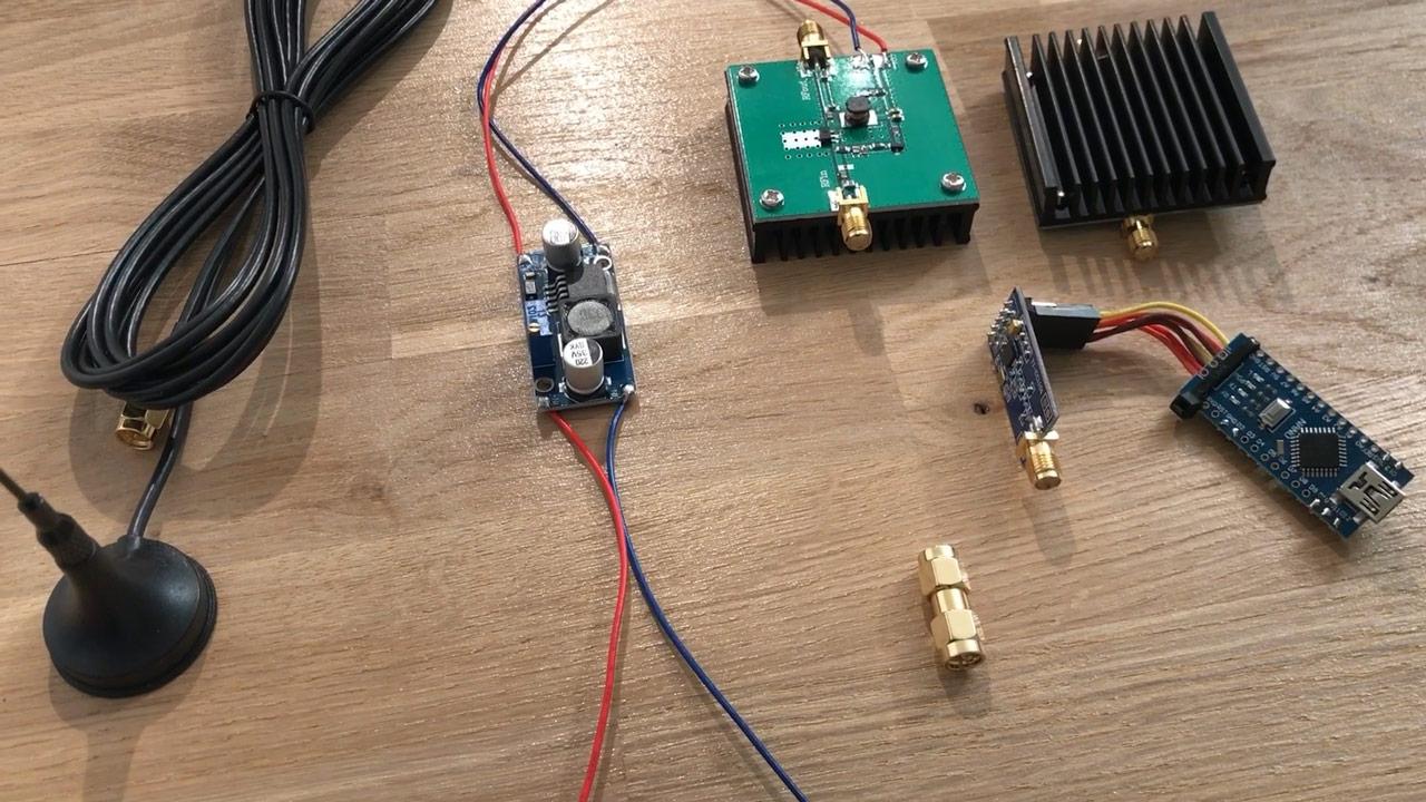Arduino CC1101 Range Test - Amplifier