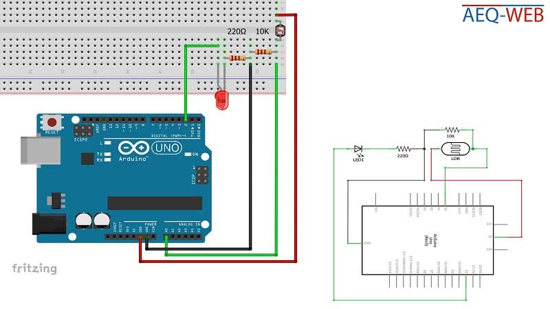 Arduino Twilight LDR Sensor Wiring