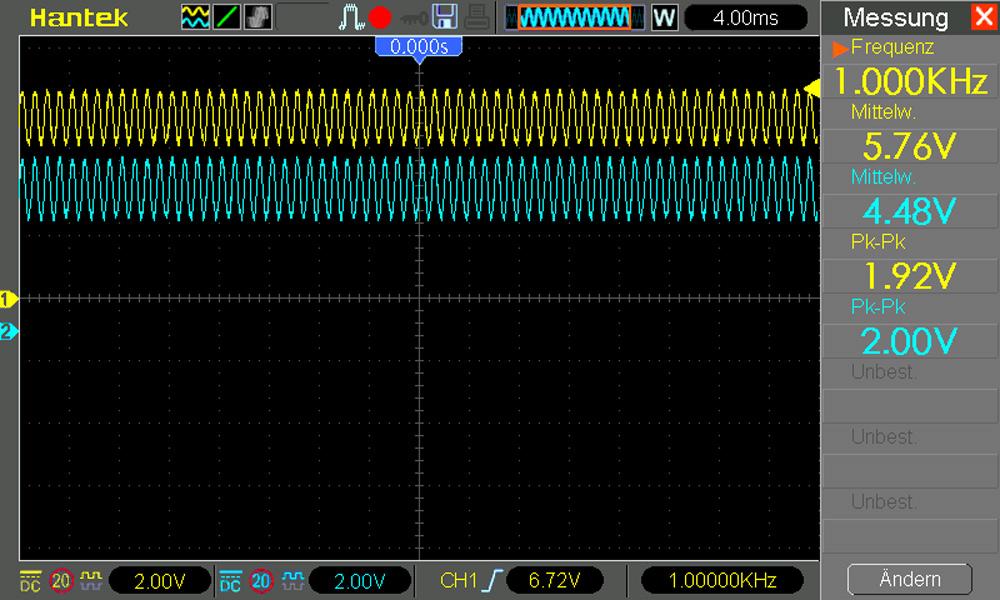 Audioverstärker Messung an Dioden