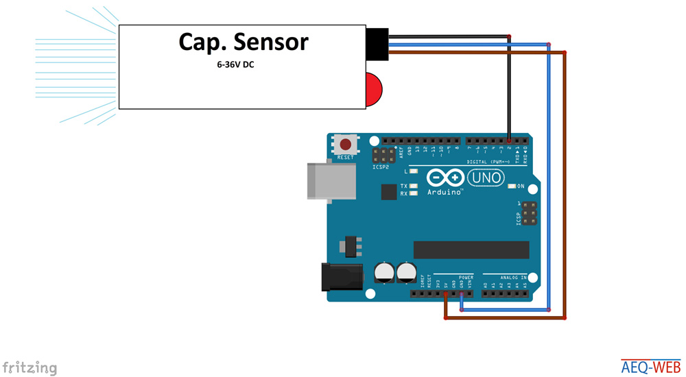 Arduino Capacitive Sensor with 5 Volt