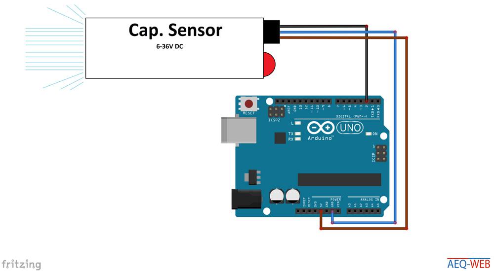Arduino Capacitive Sensor with 5 Volt