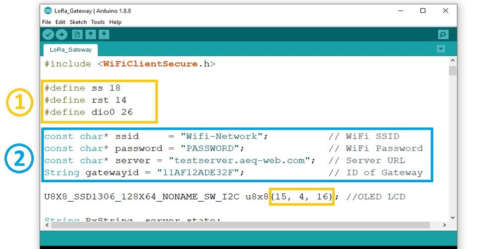 ESP32 LoRa Gateway Basic Configuration