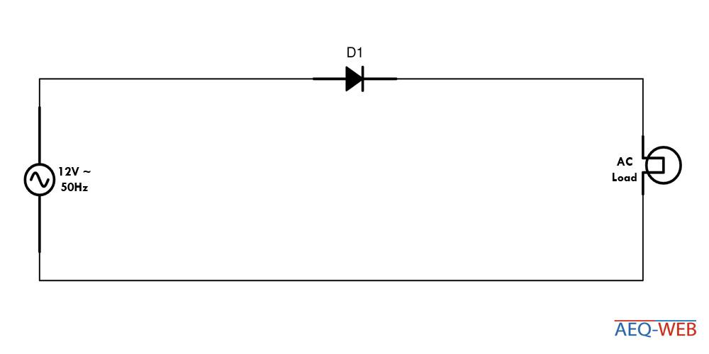 Einpuls Gleichrichter Diodenschaltung E1U