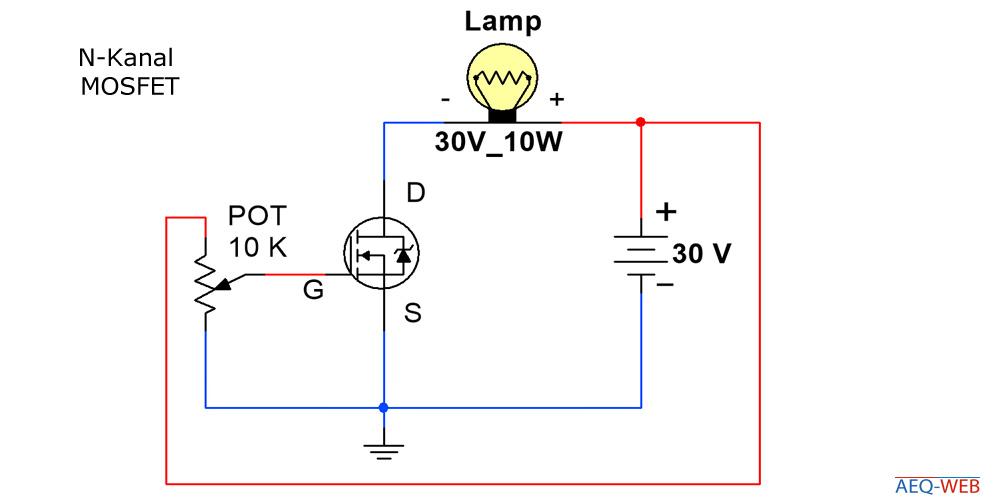 N-Kanal MOSFET Lampe helligkeit regeln