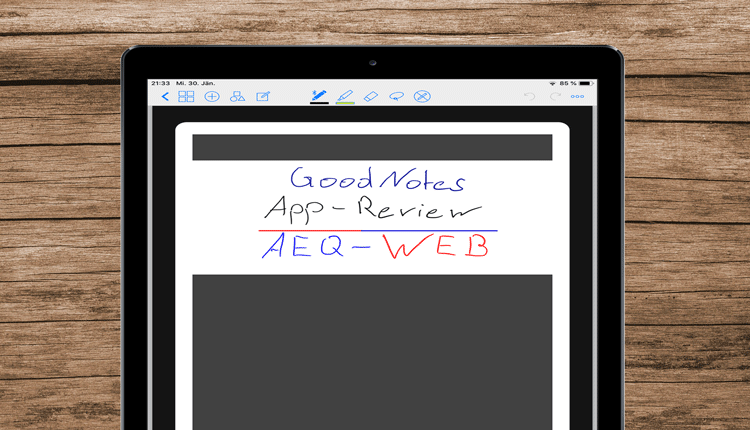 GoodNotes App Header