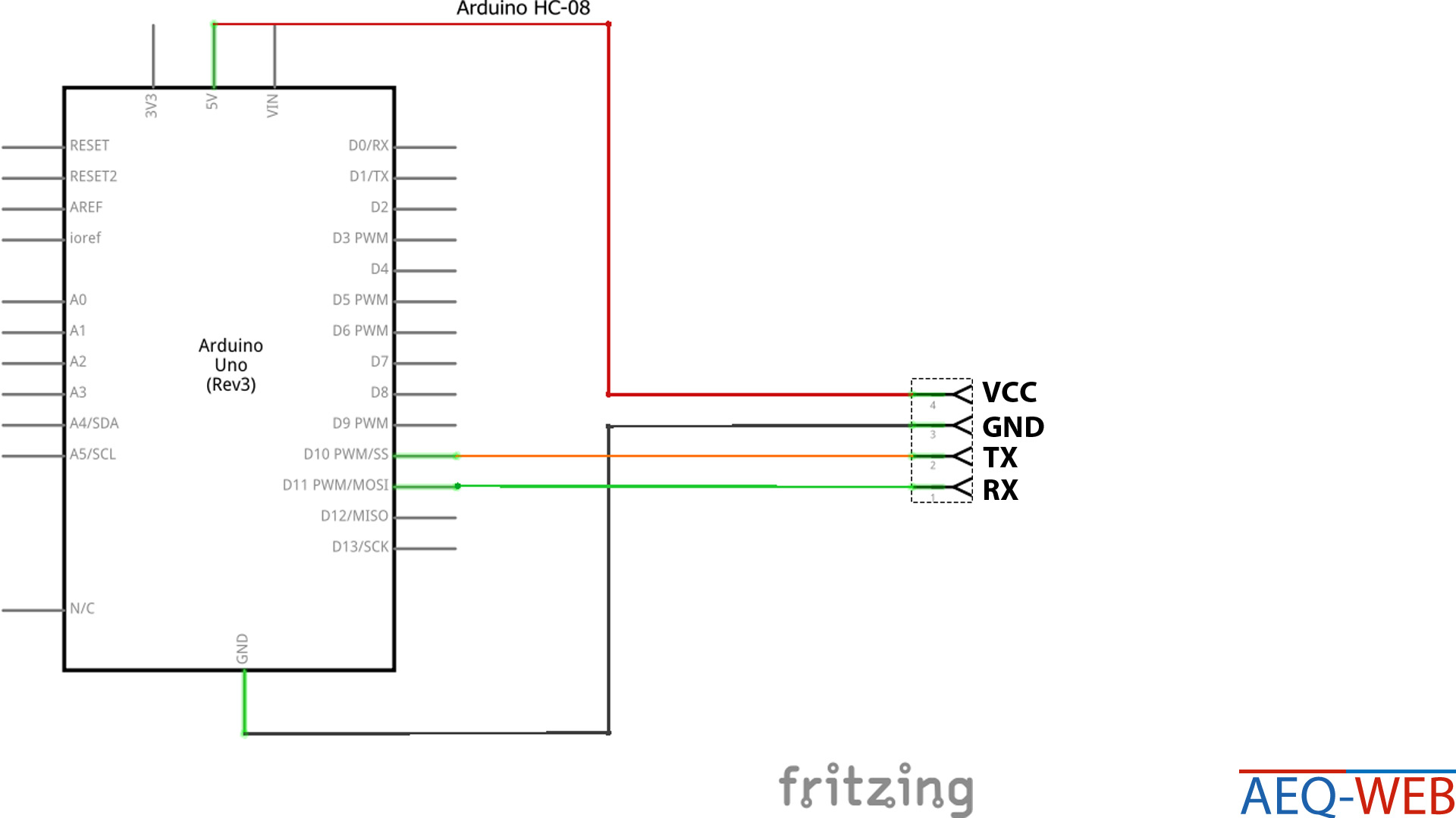 Arduino HC-08 Bluetooth Module - AEQ-WEB COM