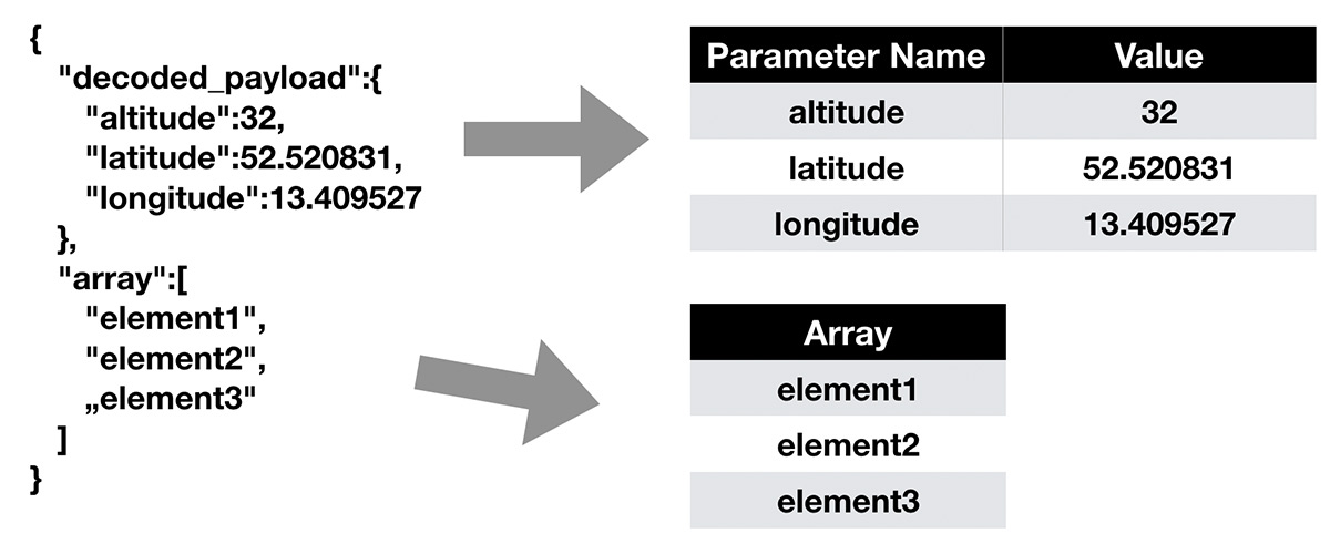 JSON Example Value Parameter