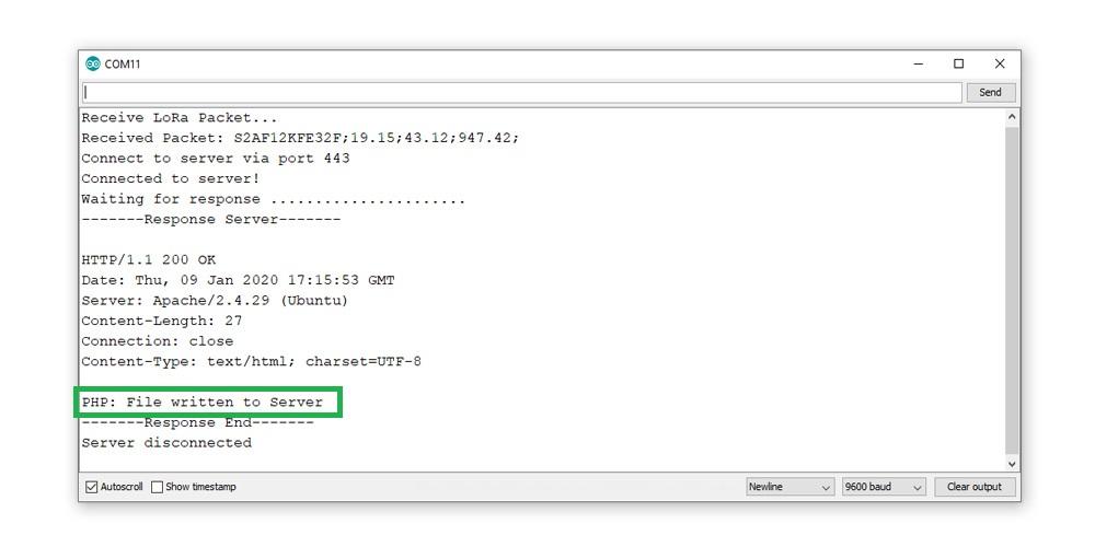ESP32 LoRa Gateway Serial Monitor