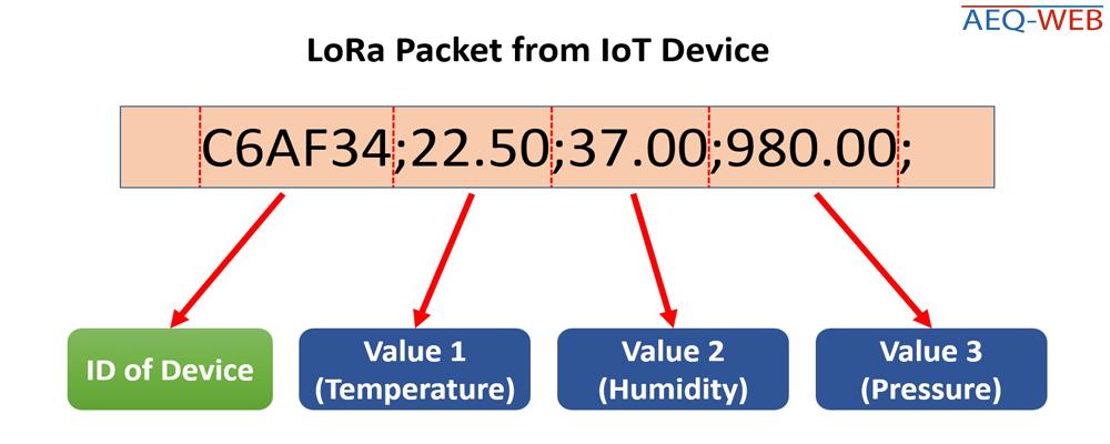 LoRa IoT RAW Data Packet