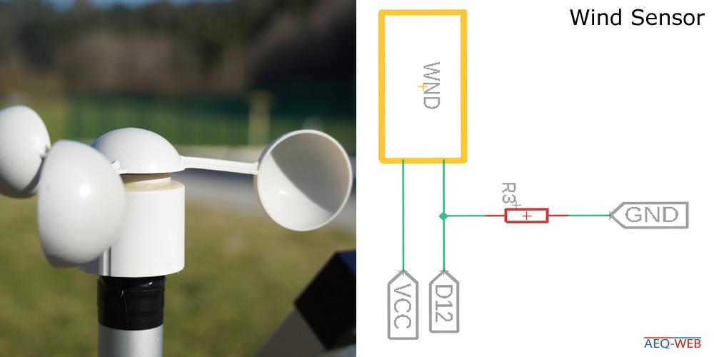 LoRa Wetterstation Wind Sensor
