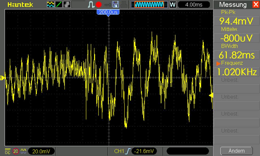 Oszilloskop Musik Kopfhörerausgang Smartphone