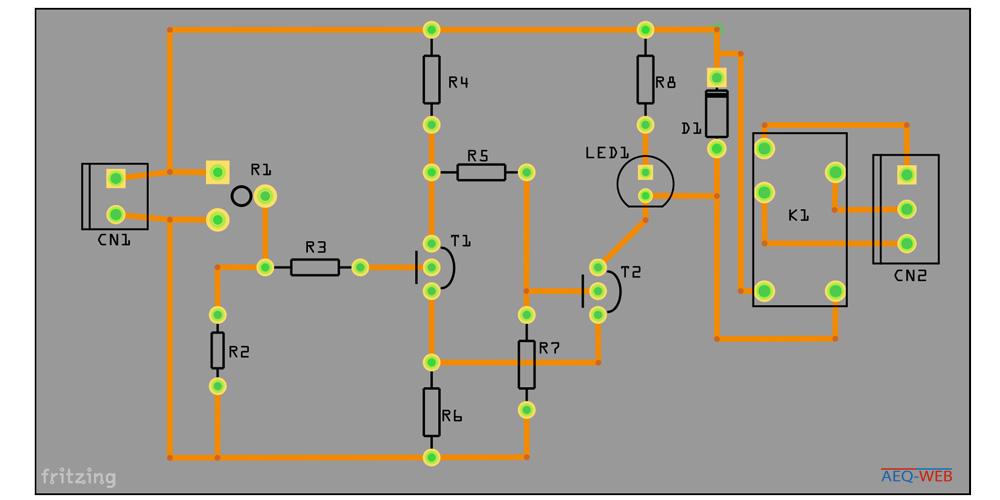 NTC Temperaturschalter Lochraster Platine