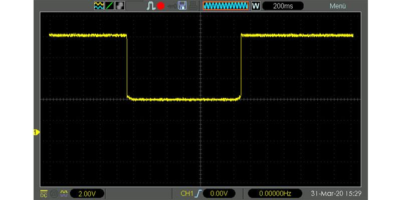 Oszilloskop NTC Temperaturschaltung kippt
